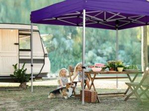 Praktische Camping-Pavillons als Erweiterung des Wohnraumes