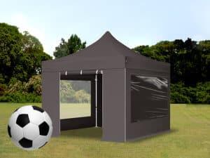 Faltpavillon für die EM 2021, 3x3 m, schwarz